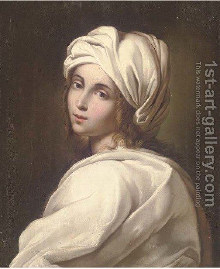 Portrait of a girl 2 by (after) Guido Reni - Reproduction Oil Painting