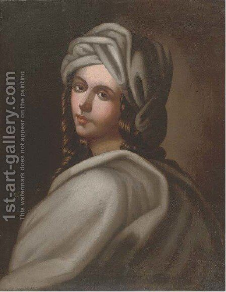 Portrait of a girl 4 by (after) Guido Reni - Reproduction Oil Painting