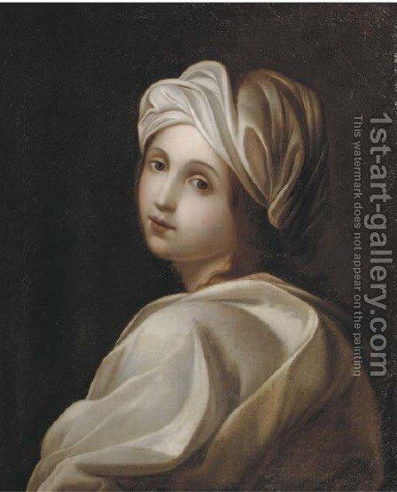 Portrait of Beatrice Cenci 2 by (after) Guido Reni - Reproduction Oil Painting