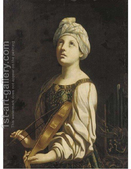 Saint Cecilia 2 by (after) Guido Reni - Reproduction Oil Painting