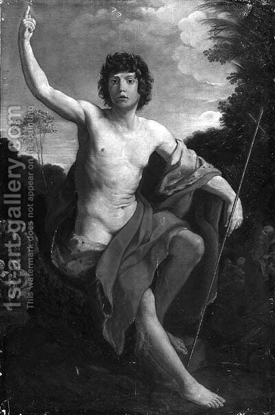 Saint John the Baptist by (after) Guido Reni - Reproduction Oil Painting