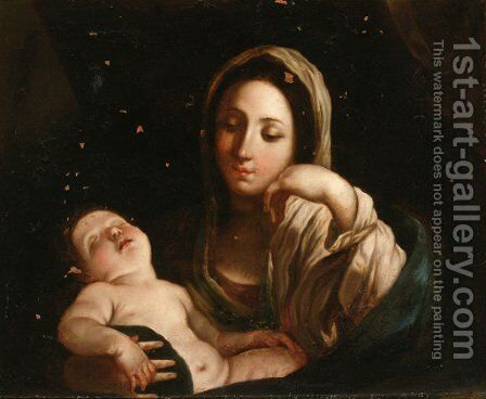 The Madonna and Child 2 by (after) Guido Reni - Reproduction Oil Painting