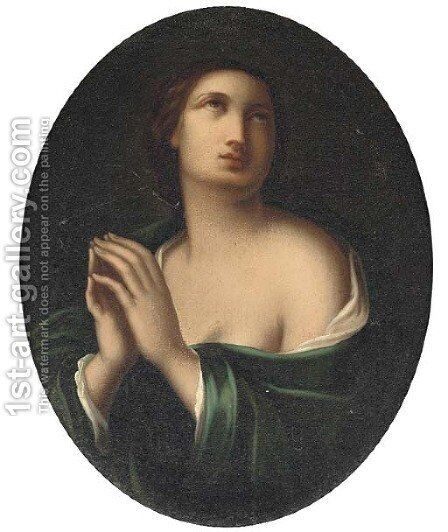 The Penitent Magdalen 2 by (after) Guido Reni - Reproduction Oil Painting