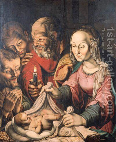 The Adoration of the Shepherds by (after) Hendrick Goltzius - Reproduction Oil Painting