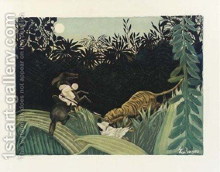 Chasse au Tigre (Ginestet and Pouillon 641) by Henri Julien Rousseau - Reproduction Oil Painting