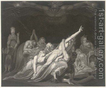 The Vision of the Lazar-House, by Moses Haughtton by (after) Fuseli, Henry (Fussli, Johann Heinrich) - Reproduction Oil Painting