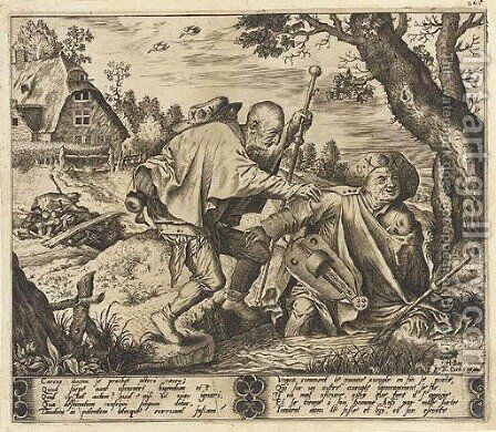 The blind leading the blind (Holl. 21) by (after) Hieronymus Bosch - Reproduction Oil Painting