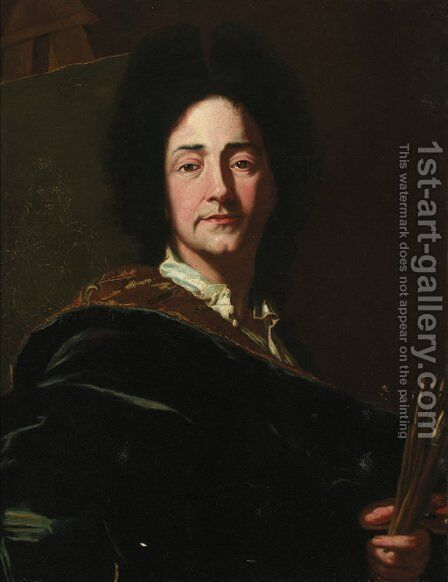 Portrait of the artist by (after) Hyacinthe Rigaud - Reproduction Oil Painting