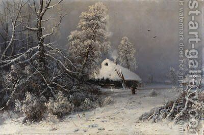 Winter Landscape by Iulii Iul'evich (Julius) Klever - Reproduction Oil Painting