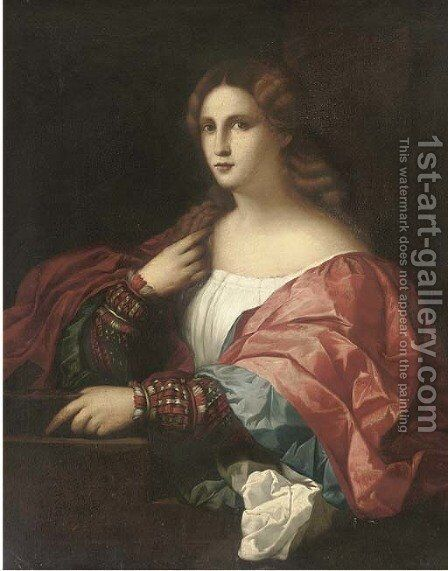 La Bella by (after) Jacopo D'Antonio Negretti (see Palma Giovane) - Reproduction Oil Painting