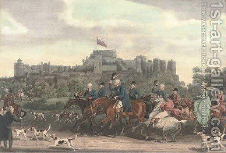 His Majesty King George III returning from hunting, by M.Dubourg by (after) James Pollard - Reproduction Oil Painting