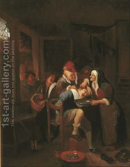 Cutting for the Stone by Jan Steen - Reproduction Oil Painting
