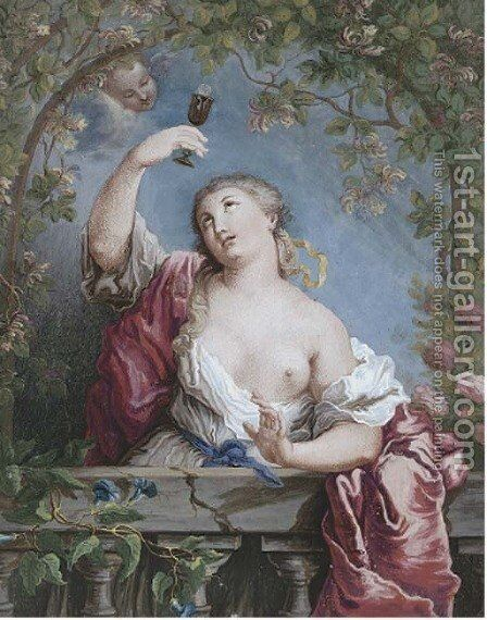 An allegory of virtue by Jean-Honore Fragonard - Reproduction Oil Painting