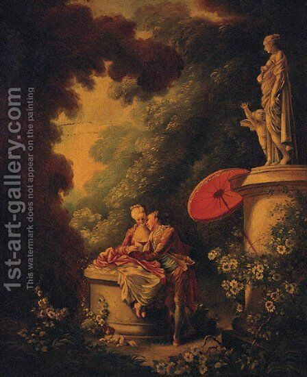 The Love Letters by Jean-Honore Fragonard - Reproduction Oil Painting