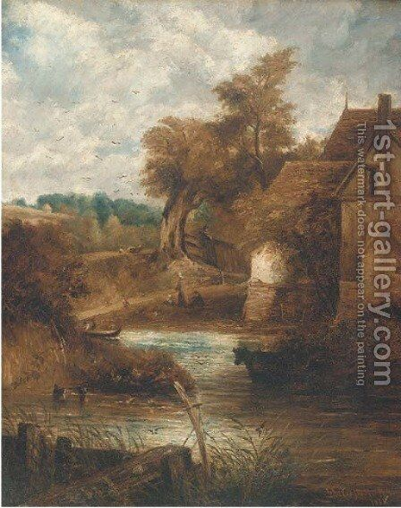 Willy Lott's House by (after) Constable, John - Reproduction Oil Painting
