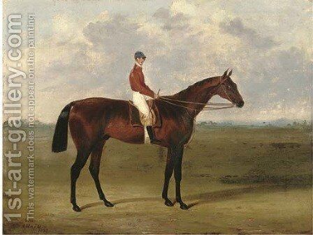 Amato, with jockey up by (after) John Frederick Herring - Reproduction Oil Painting