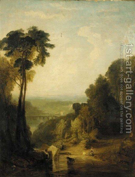 Crossing the Brook by (after) Joseph Mallord William Turner - Reproduction Oil Painting