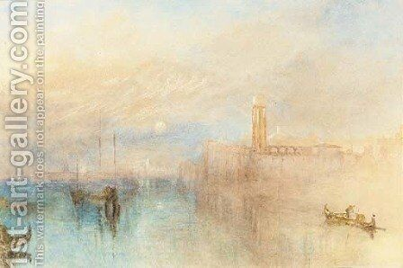 Venice Moonrise by (after) Joseph Mallord William Turner - Reproduction Oil Painting