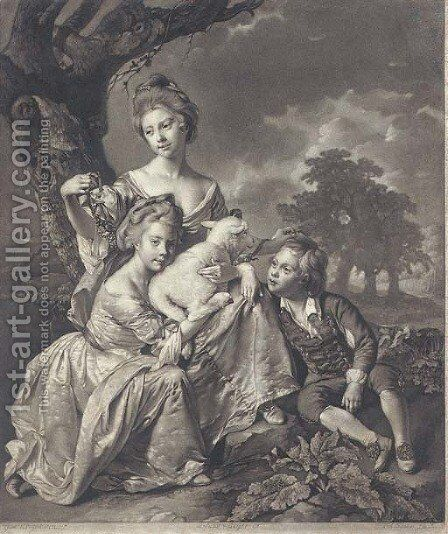 The Bradshaw Family, by Valentine Green by (after) Wright, Joseph - Reproduction Oil Painting