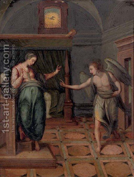 The Annunciation of the Virgin by (after) Marcello Venusti - Reproduction Oil Painting