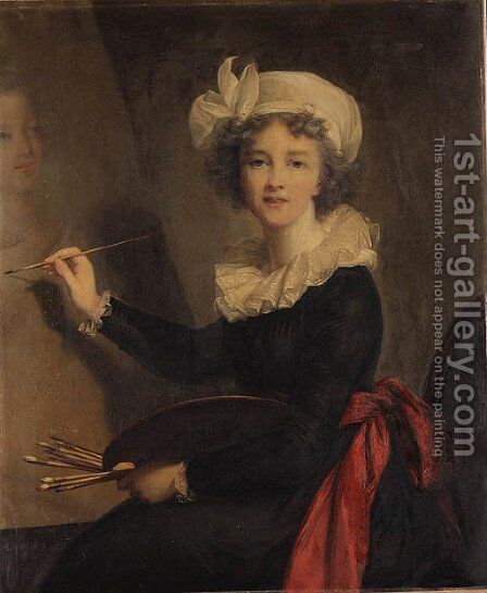 Portrait of the Artist by Elisabeth Vigee-Lebrun - Reproduction Oil Painting