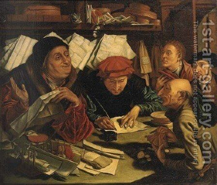 The Money Changers by (after) Marinus Van Reymerswaele - Reproduction Oil Painting
