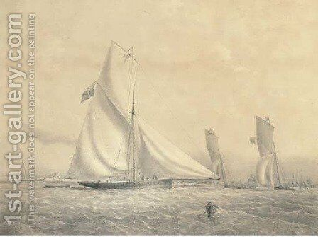 The cutter yacht Phantom, by T.G. Dutton by Nicholas Matthews Condy - Reproduction Oil Painting