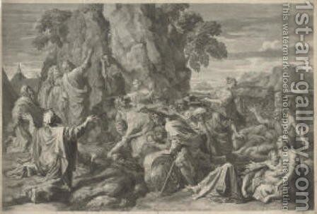 Moses Striking the Rock, by Claudia Stella by (after) Nicolas Poussin - Reproduction Oil Painting