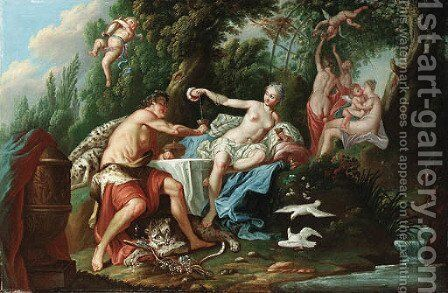 Venus and Bacchus by (after) Noel-Nicolas Coypel - Reproduction Oil Painting