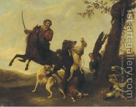 The bear hunt by (after) Paulus Potter - Reproduction Oil Painting