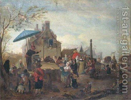 A market scene with a quack by (after) Philips Wouwerman - Reproduction Oil Painting