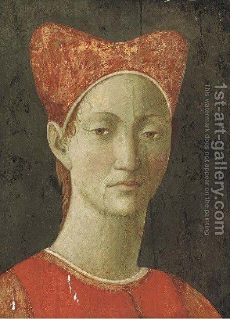 Head of a girl by (after) Piero Della Francesca - Reproduction Oil Painting