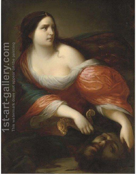 Judith with the Head of Holofernes by (after) Simone Pignoni - Reproduction Oil Painting