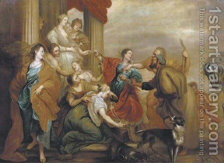Achilles and the Daughters of Lycomedes by Sir Anthony Van Dyck - Reproduction Oil Painting