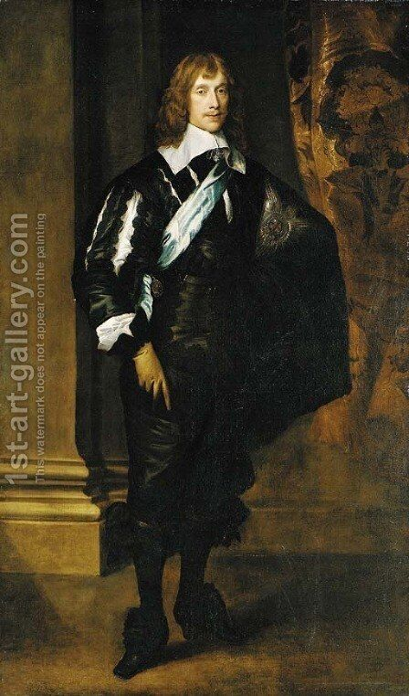 Portrait of James Stuart, 4th Duke of Lennox and 1st Duke of Richmond  (1612-1655), full-length, wearing the Star and Sash of the Order of the Garter by Sir Anthony Van Dyck - Reproduction Oil Painting