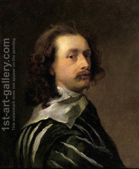 Portrait of the artist, bust length in profile to the right by Sir Anthony Van Dyck - Reproduction Oil Painting