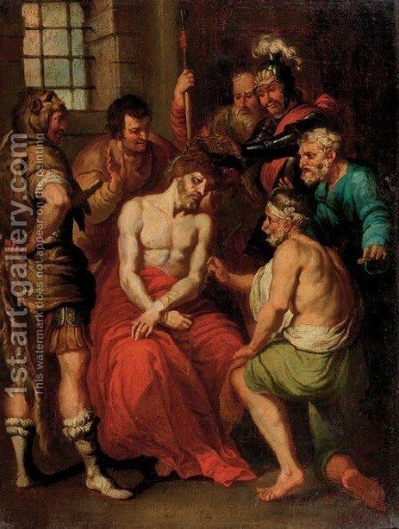The Mocking of Christ 2 by Sir Anthony Van Dyck - Reproduction Oil Painting
