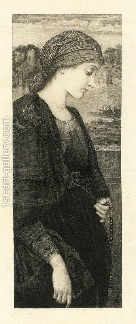 Flamma Vestalis, by Eugene Gaujean by (after) Sir Edward Coley Burne-Jones - Reproduction Oil Painting