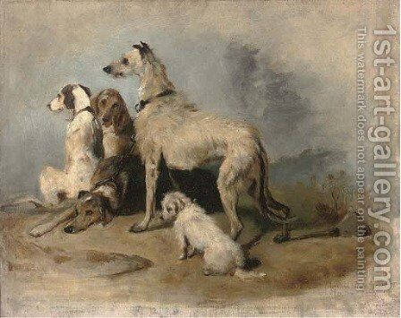 Highland dogs by (after) Sir Edwin Henry Landseer - Reproduction Oil Painting