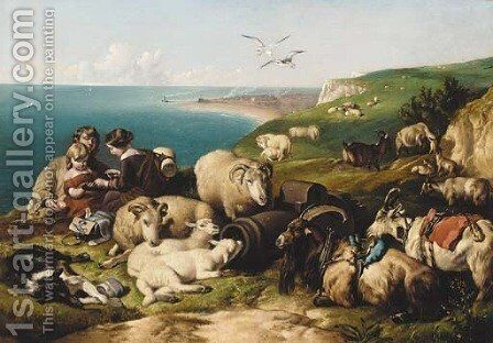 Time of Peace by (after) Sir Edwin Henry Landseer - Reproduction Oil Painting