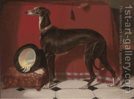 Eos, a favourite greyhound, the property of H.R.H. Prince Albert by Sir Edwin Henry Landseer - Reproduction Oil Painting