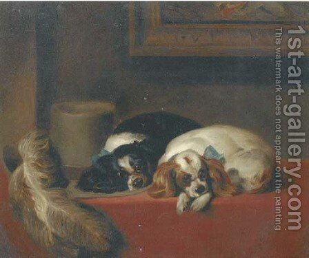 The cavalier's pets by Sir Edwin Henry Landseer - Reproduction Oil Painting