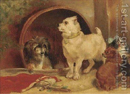 Alexander and Diogenes by (after) Landseer, Sir Edwin - Reproduction Oil Painting