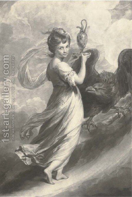 Hebe, by John Jacobe by (after) Sir Joshua Reynolds - Reproduction Oil Painting