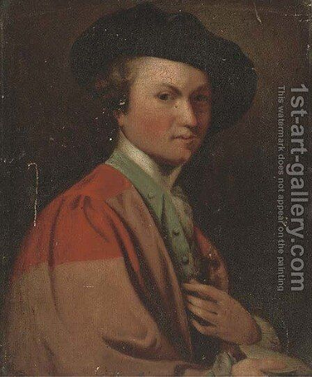 Self-portrait of the artist by (after) Sir Joshua Reynolds - Reproduction Oil Painting