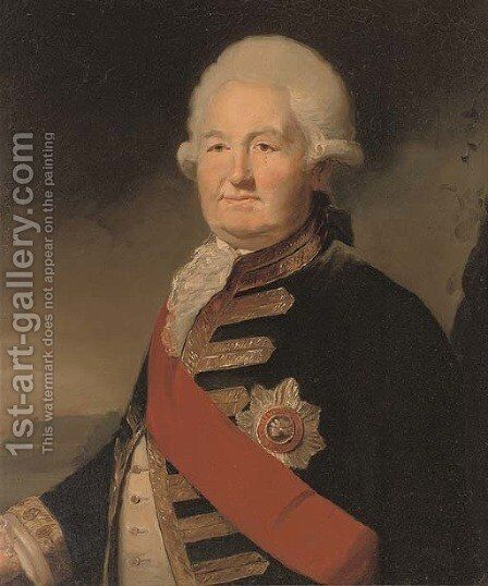 Portrait of Admiral Sir Edward Hughes by (after) Sir Joshua Reynolds - Reproduction Oil Painting