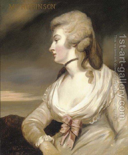 Portrait of Mary Robinson by (after) Sir Joshua Reynolds - Reproduction Oil Painting