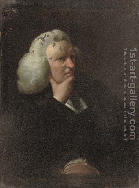 Portrait of the Revd. Zachariah Mudge (1694-1769) by (after) Sir Joshua Reynolds - Reproduction Oil Painting