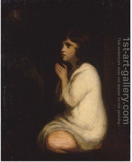 Samuel by (after) Sir Joshua Reynolds - Reproduction Oil Painting