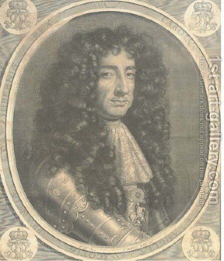 Charles II, by P. Vandrebane by (after) Sir Peter Lely - Reproduction Oil Painting